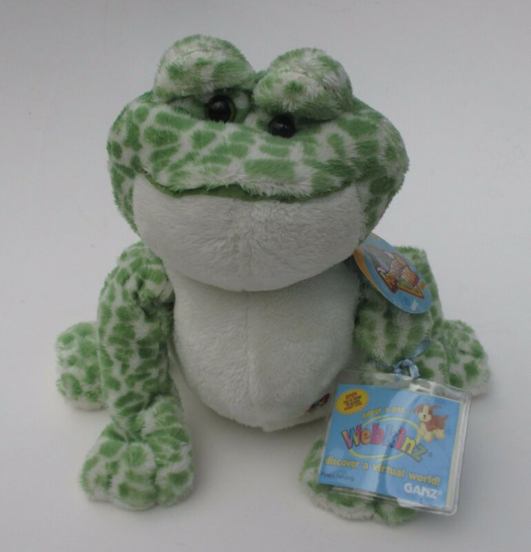 zzs Spotted frog WEBKINZ PLUSH new with code ganz stuffed animal