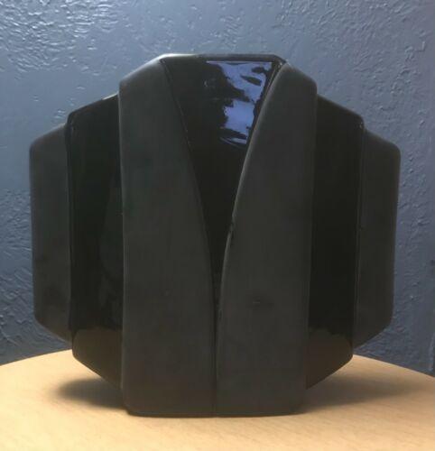 Vintage 1980s Post Modern Toyo Ikebana Black Vase
