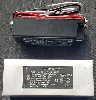 Led Power Supply Driver 20w Dimmable 90-205vac 12-36vdc New Lps20w-36-c0550-dd