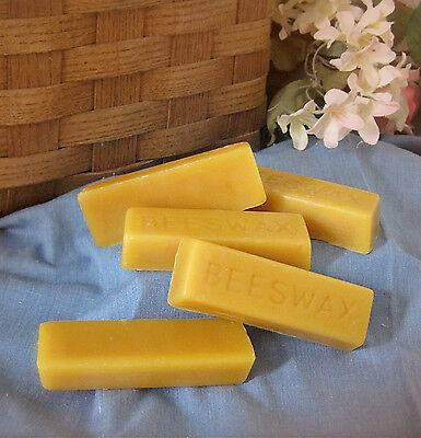 Beeswax (5 bars) 1oz each - Filtered Organic Pure Yellow Bees wax Cosmetic Grade
