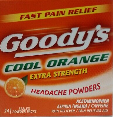 12 imperfect boxes Of Goody orange headache powder 24 powder pack/box each
