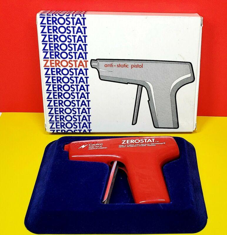 VTG Discwasher Zerostat Anti Static Record Album Pistol Gun w/Box & Test Bulb