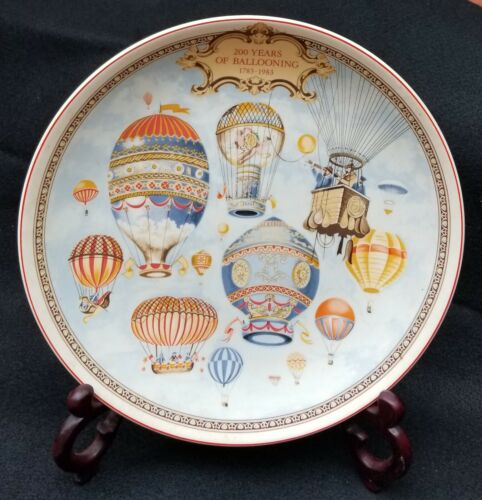 Vintage Wedgwood Decorative Plate - 200 Years Of Ballooning 1783-1983 - Colorful