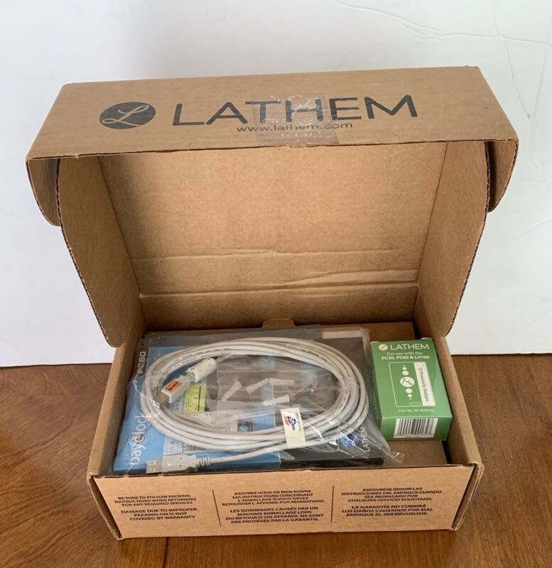 Lathem PC60 Payclock with badges and Accessories