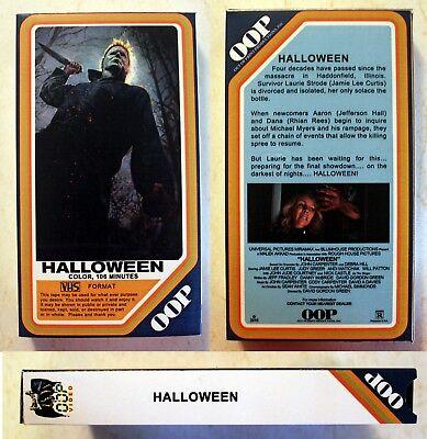 VHS: Halloween 2018 (not DVD/blu-ray) horror Jamie Lee Curtis Judy Greer Green - Halloween Movies Not Horror