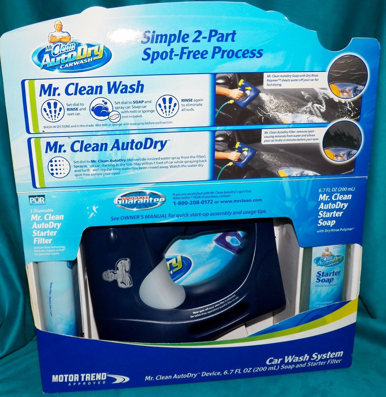 Mr Clean Autodry Car 2 Part Wash System Starter Kit Spray