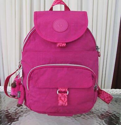 Kipling Backpack Queenie Very Berry Pink NWT $94