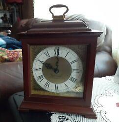 Vintage Carriage Seth Thomas Electric Mantle Clock Wood Electric