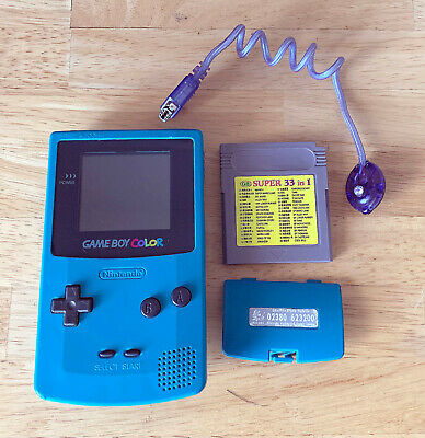 NINTENDO GAME BOY COLOR CONSOLE TEAL BLUE GREEN TURQUOISE GAMEBOY SYSTEM TESTED
