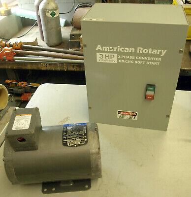 American Rotary 3-phase Converter Hdcnc Soft Start 3hp 2.2kw240v