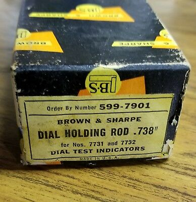 Brown And Sharpe Dial Holding Rod .738 599-7901