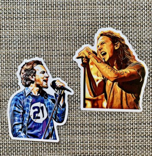 Eddie Vedder Pearl Jam Drawing Premium Sticker Pack Decal Quality Gloss Grunge