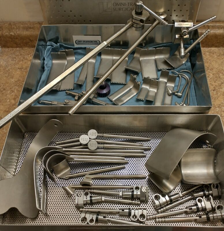 OMNI-TRACT SURGICAL RETRACTOR POST, RAIL CLAMP, BLADES, HOLDERS, SWIVELS, HOOKS
