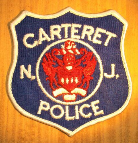 GEMSCO NOS Vintage Collectible Patch POLICE CARTERET NJ - Original 40+