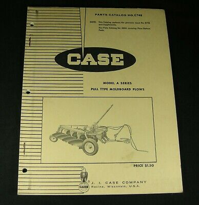 Case Model A Series Pull Type Moldboard Plow Parts Manual A18317 A15711 Book