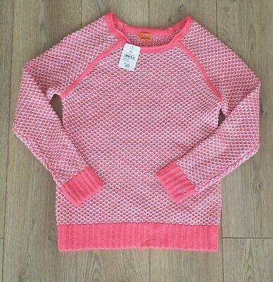 BNWT Joe Fresh Tuck Stitch Fluro Pink Jumper Size small/8 $39.00