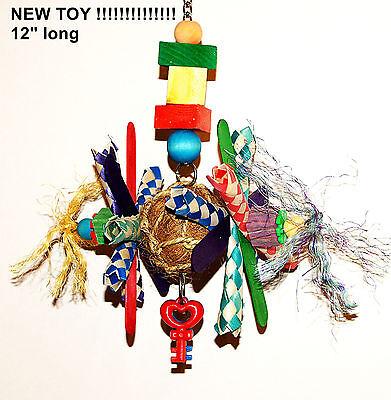 Coco Ball Sticks Toy Parrot pet bird cage toy senegal amazon mini macaw quaker