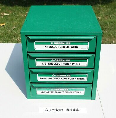 Greenlee Knockout Shop Cabinet 7360sb Cabinet For Punch Die Draw Studs 144