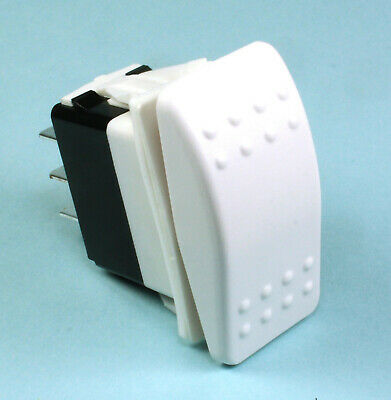 Momentary White Rocker Switch Dpdt Replaces Carling 20a 12vdc Onoffon