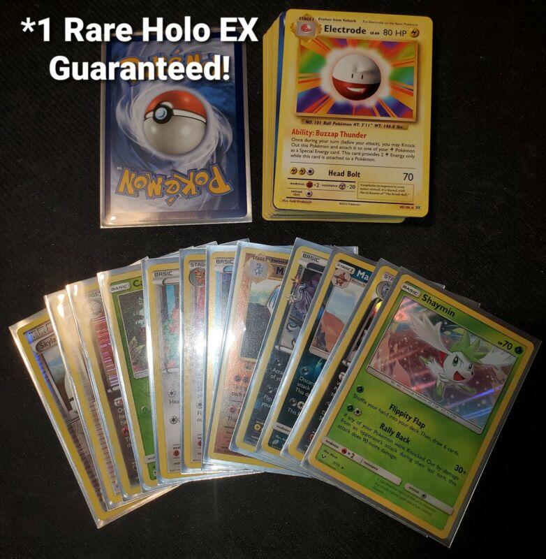 70 Pokemon Card Lot (13 Holo/foils) One Ex Holographic Rare Guaranteed!