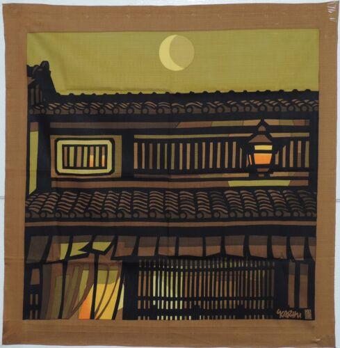 Furoshiki, Karhu, Kyoto scene, brown and yellow