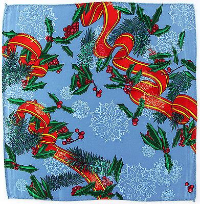 Rush Limbaugh Silk Men's Handkerchief Pocket Square Christmas Blue Hanky New