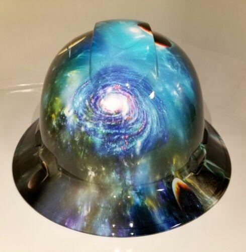 NEW FULL BRIM Hard Hat custom hydro dipped GALAXY UNIVERSE 3D INCREDIBLY REALIST
