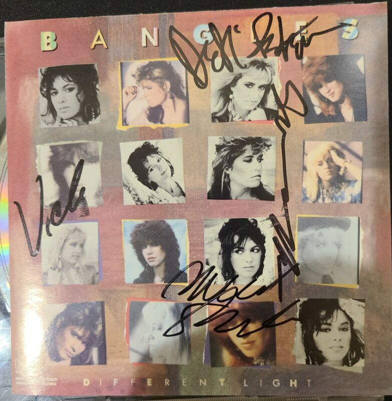 THE BANGLES - DIFFERENT LIGHT CD FULLY SIGNED.  AUTOGRAPHED!