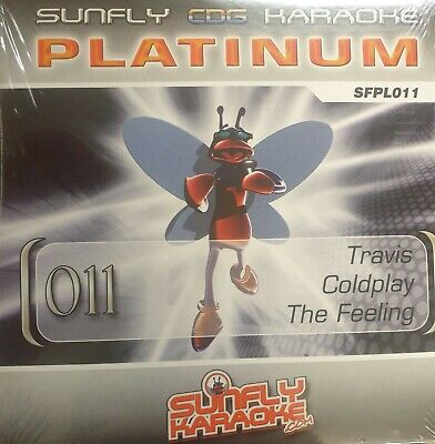 Sunfly Karaoke Platinum (SFPL011) CDG Disc Travis, Coldplay, used for sale  Shipping to Ireland