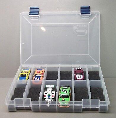 Tyco Life - HO Slot Car Storage Case - Holds 12 Cars (Dark Gray) Tyco, AFX, Life Like