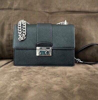 Authentic PRADA Saffiano Lux Galleria Black Leather Handbag