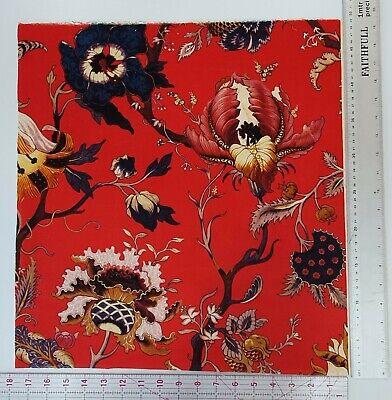 House of Hackney Artemis red blue floral velvet fabric craft remnant