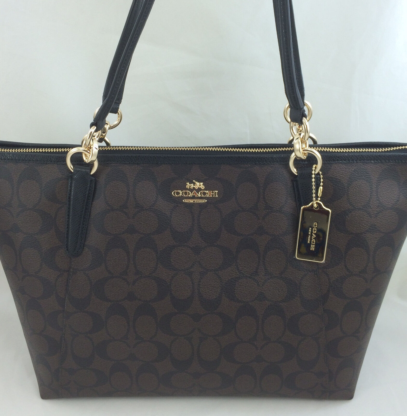 New Authentic COACH F58318 AVA Signature Tote Handbag Purse