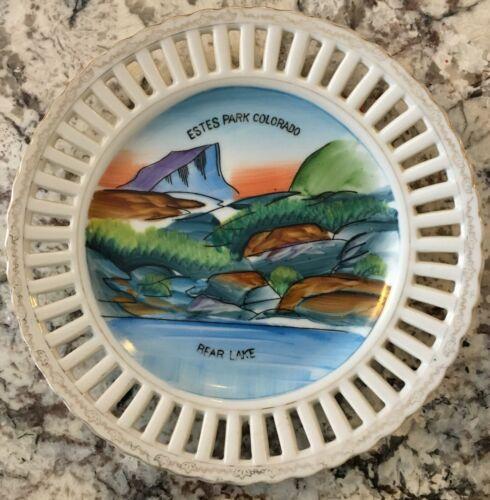 Vintage Estes Park Colorado Bear Lake Colorado Souvenir Collector Plate JAPAN