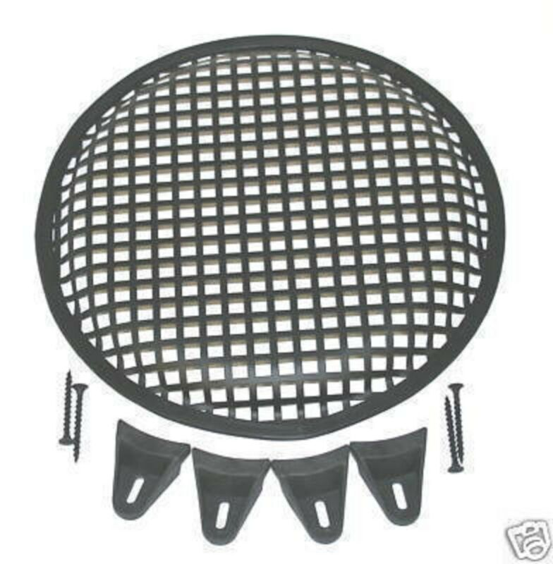 15 INCH SUBWOOFER SPEAKER COVER WAFFLE MESH GRILL GRILLE PROTECT GUARD W/ Clips