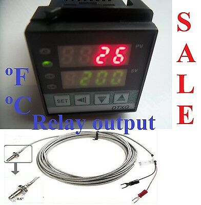Fahrenheit Dual Digital Pid Temperature Controller Kiln Oven Thermocouple Small