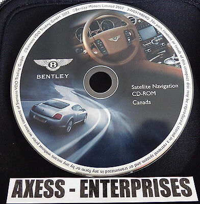 04 05 06 Bentley Continental GT Flying Spur Navigation CD Map # 8 Canada: BC ON
