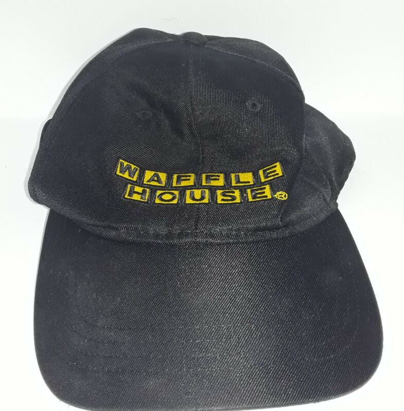 Waffle House Cap Hat Adjustable Black/Yellow