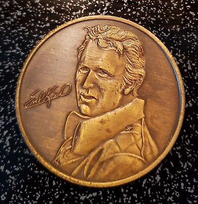 Unopened Evel Knievel Collectible Bronze Coin 1974 'The Last of The Gladiators'