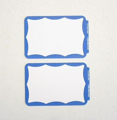 10 Blue Border Badges Name Tags Labels Id Stickers Peel And Stick Adhesive