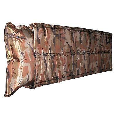 Camouflage Self Inflating Extensible Sleeping Pad Camping Mattress with Pillow