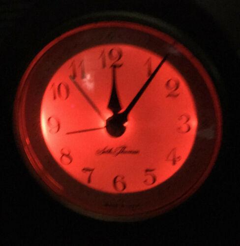 Seth Thomas Wood Mantelette Electric Lighted Alarm Clock mantel vintage mantle
