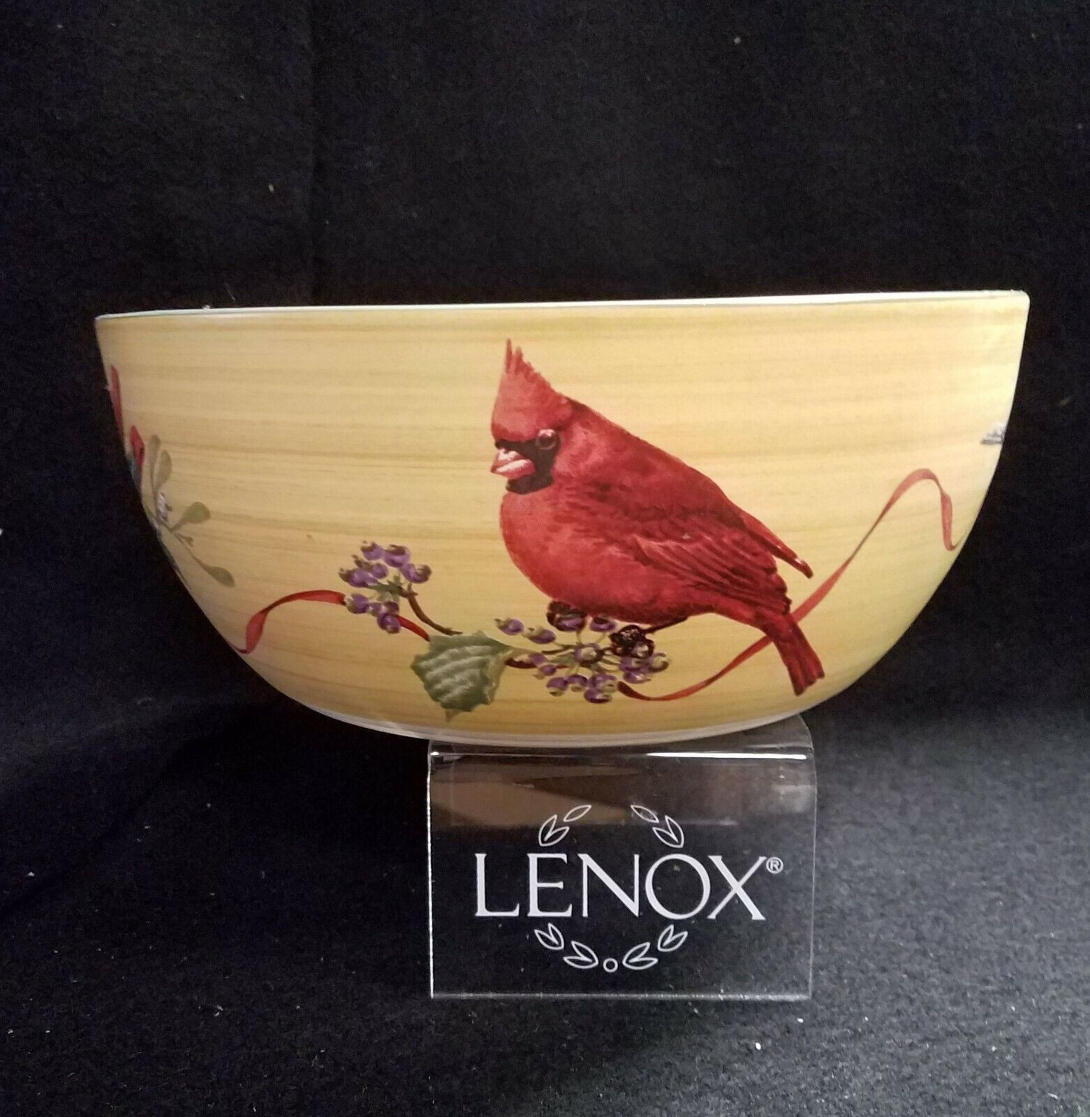 LENOX WINTER GREETINGS Large Serving Bowl 10 Made In Portugal - $129.95