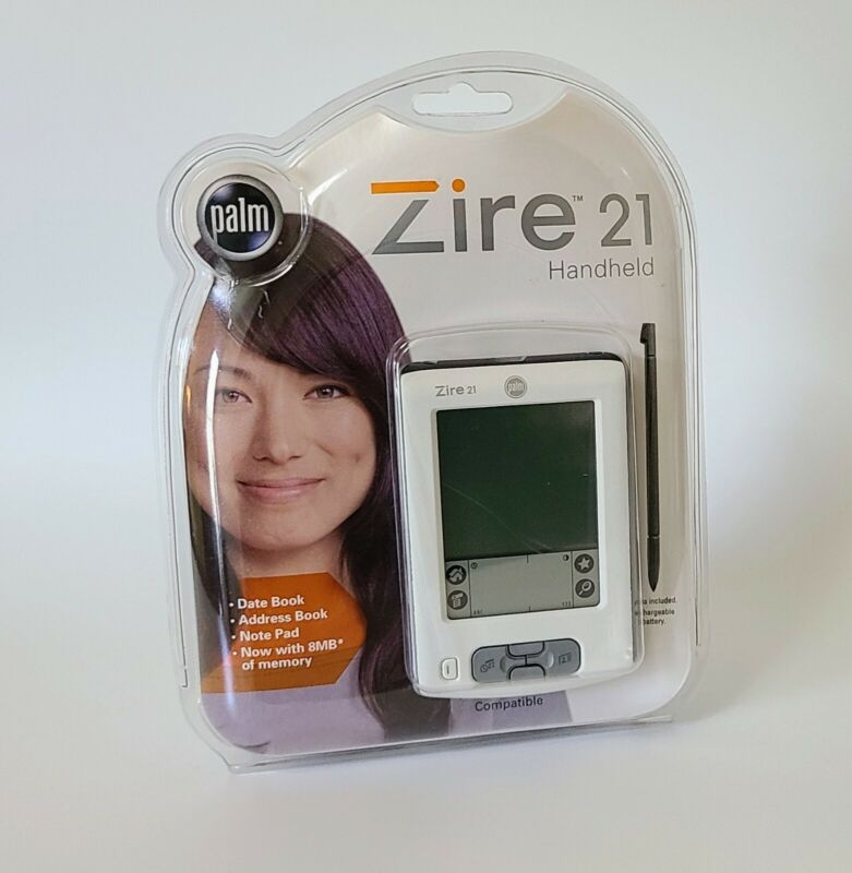 Palm Zire 21 Handheld Pilot PDA 8MB White BRAND NEW SEALED IN PACKAGE