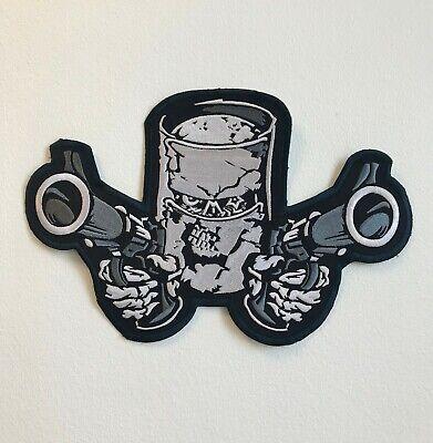 Doble Pistola Grande Chaqueta Espalda de Coser Parche Bordado