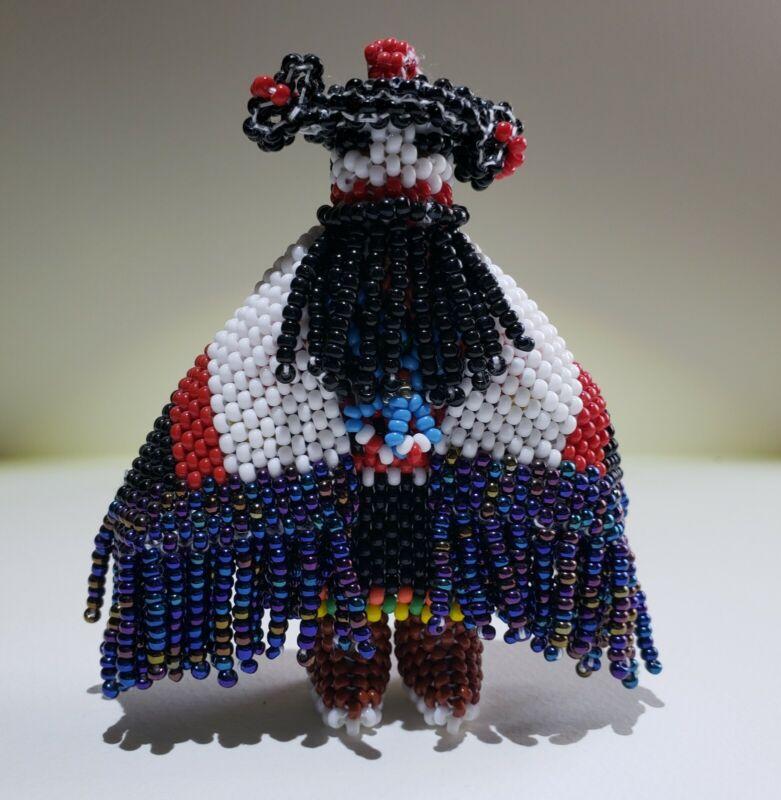Native American Zuni Beaded Ogre Corn Maiden by Claudia Cellicion
