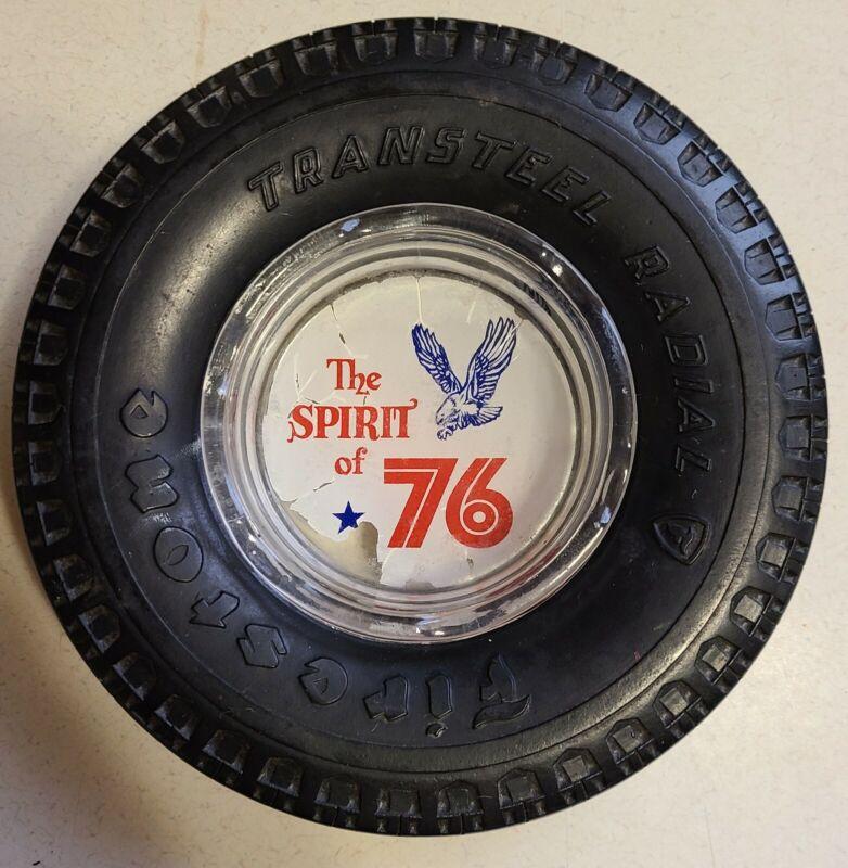 "Vintage Advertising Ashtray - Firestone ""The Spirit of 76"""