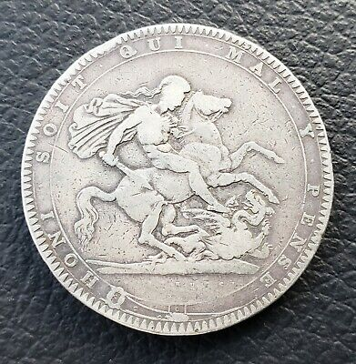1819 Great Britain Silver Crown - Light Cleaning