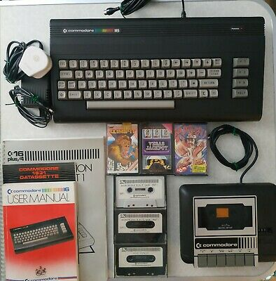 Commodore 16 C16 Computer Including Tape Deck and Cassettes.