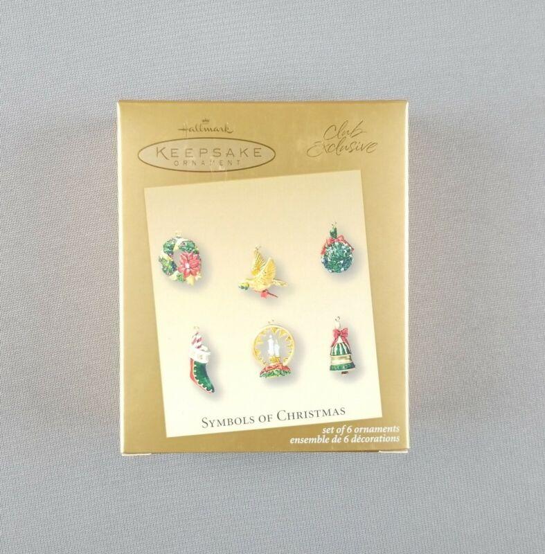"""Hallmark 2003 Keepsake Miniature Ornaments """"Symbols of Christmas"""" Club Exclusive"""